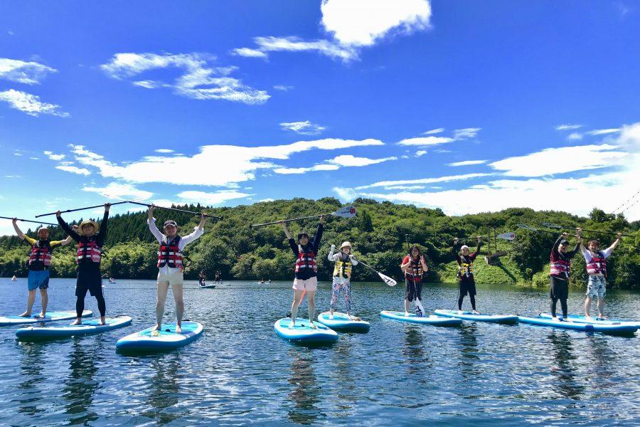 【Spes】5/30より那須矢の目ダム湖SUP体験ツアースタートしました